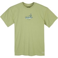 Life is good. Mens Crusher Tee - Boat Fish - Sprout Green - XXL