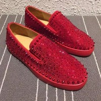 Indie Designs Christian Louboutin Inspired Roller-Boat Flat Sneakers