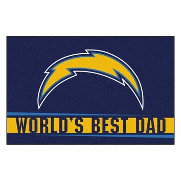 FANMATS San Diego Chargers World's Best Dad Starter Mat Rug