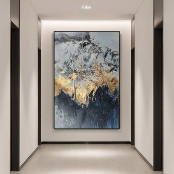 Modern Abstract acrylic Gold paintings on canvas art original texture painting extra Large wall pictures cuadros abstractos hand-painted
