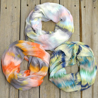 Brushstroke Abstract Infinity Scarves