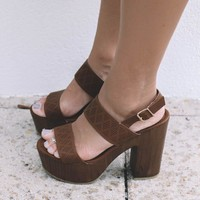 Rise Up Tan Sandal Platforms