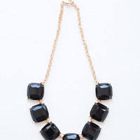 Evelyn Black Statement Necklace