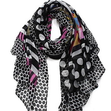 Cozy by LuLu - Kaleidoscope Scarf in Black