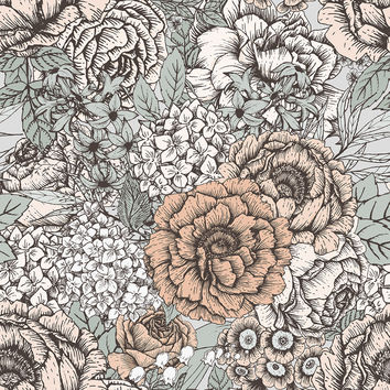 Muted Floral Removable Wallpaper