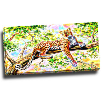 Cheetah the Protector Canvas Wall Art Print