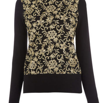 WARNER EMBROIDERED SWEATER