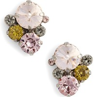 Sorrelli Army Girl Crystal Stud Earrings | Nordstrom