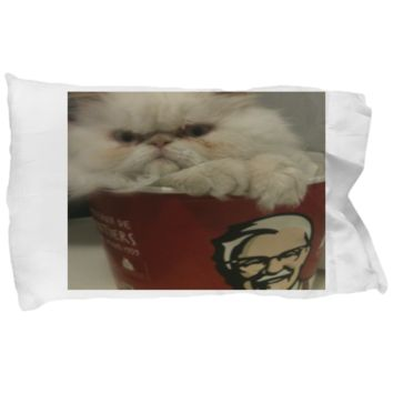Funny Persian Kitten Pillow Case - Holiday Gift 2017 2018 - Bedding Gift For Cat Moms - Perfect Christmas Gifts For Her