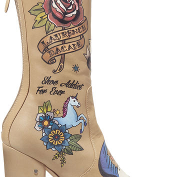 Printed leather boots | Laurence Dacade | UK | THE OUTNET
