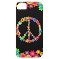 Customizable Pop Flower Power Peace iPhone 5 Case