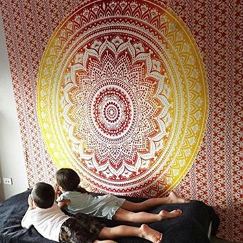 The Bohemian Celestial Flame Wall Tapestry