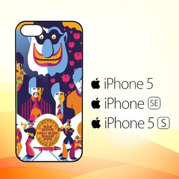 Beatles Graffiti All You Need Is Love WALLPAPER Y0485  iPhone 5|5S|SE Case