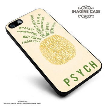 psych pinapple quotes case cover for iphone, ipod, ipad and galaxy series