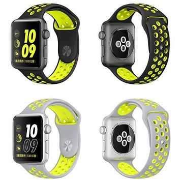 Silicone wrist band for iWatch 42mm 38mm Series 1 Series 2