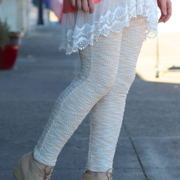 Cozy Spring Knit Leggings {Taupe Mix}