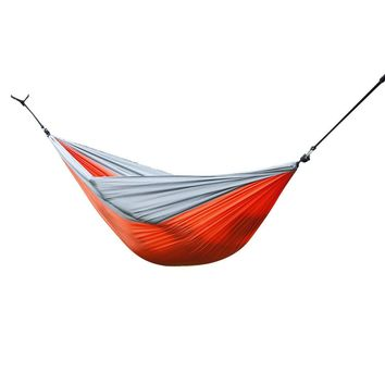 AT6737 Nylon Parachute Fabric Double Hammock Orange & Gray