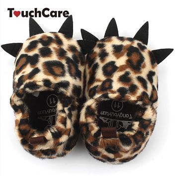 Newborn Cute Cartoon Animal Claws Baby First Walkers Soft Warm Coral Cashmere Toddler Snow Shoes Kids Monster Booty