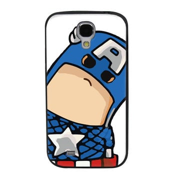 Tilted Animated Captain America TPU Soft Shell Jelly Silicone Case for Samsung Galaxy S4