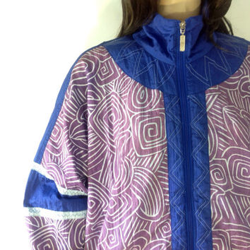 FLASH SALE Vintage tribal jacket / Vintage windbreaker jacket / Track jacket / Vintage track jacket / Hip hop jacket / Nylon bomber jacket