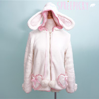 Fluffy Cute Bear/Bunny Double-sided Plush Coat SP130112 from SpreePicky