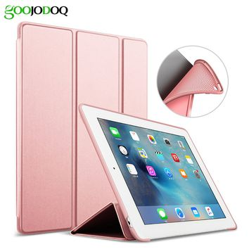 For iPad 9.7 2017 Case A1822 A1823 Silicone Soft Back PU Leather Smart Cover for New iPad 2017 Case 9.7 inch Case Auto Sleep