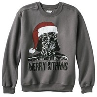Men's Star Wars Merry Sithmas Fleece Sweatshirt - Gray