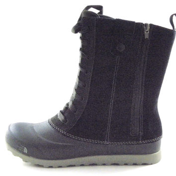 The North Face Adapta Dual Climate Women's Black Leather Winter Waterproof Boots