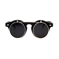 Two-Double Vintage Sunglasses In Matte Black - Choies.com