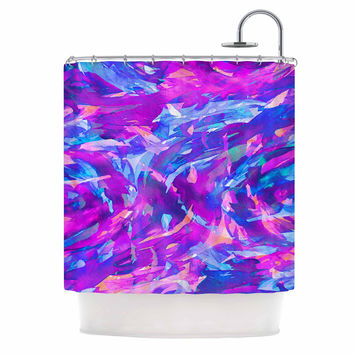 "Ebi Emporium ""Motley Flow 2"" Purple Blue Shower Curtain"