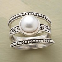 Button Pearl Ring Set | Robert Redford's Sundance Catalog