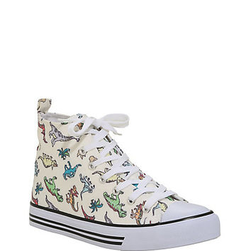 Dinosaur Print Hi-Top Sneakers