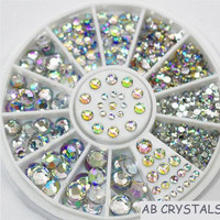 Nails Art AB Crystals Rhinestones Flat Back Stones