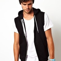 American Apparel Sleevless Hoodie at asos.com