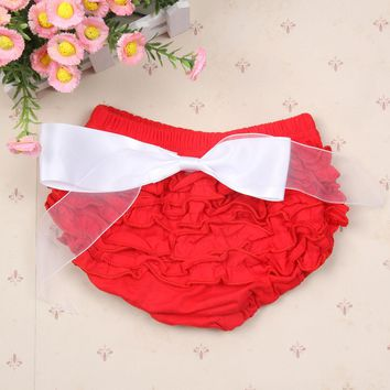 Princess Baby Girls Cute Bloomers Ruffle PP Pants Shorts Bow Diaper Nappy Covers Baby Clothes