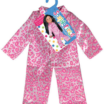 Fibre Craft - Doll Clothes Leopard Pajamas