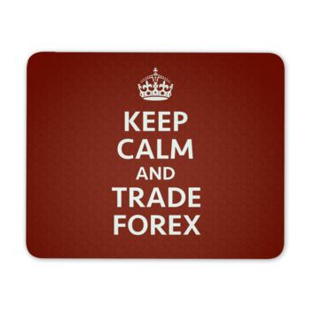 Keep calm and trade Forex- Red
