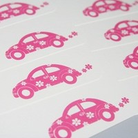 Pink Flower Power Card Note Card Stationery Set for All Occasions