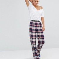 Chelsea Peers Checked Pajama Bottom at asos.com