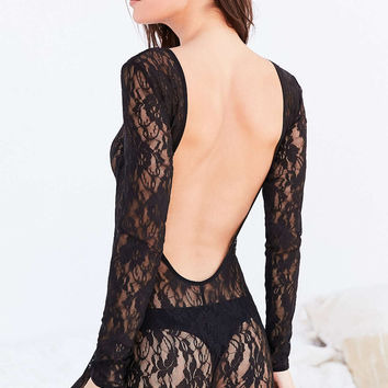Out From Under Claire Lace Catsuit - Urban Outfitters