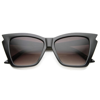 Indie Fashion Women's Jagged Cat Eye Sunglasses 9833