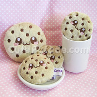 Chocochip Cookie Plush or Cell Phone Bag Charm Kawaii Plushie Chocolate Chip