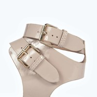 Kylie Multi Strap Cleated Patent Gladiator Sandal