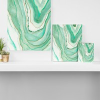 Agate Inspired Watercolor 07 Art Canvas Viviana Gonzalez