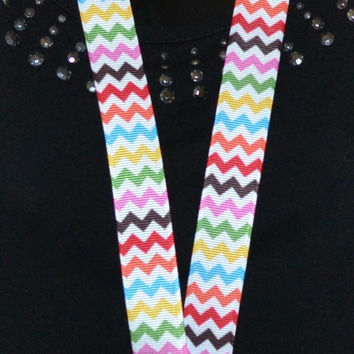 Chevron Multi-Colored Lanyard
