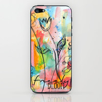 Freely Bloom Watercolor iPhone & iPod Skin by Misty Diller of Misty Michelle Design