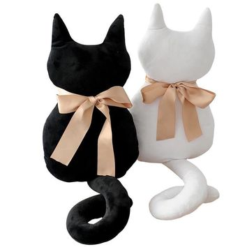 1pc 45cm Fashion Back Shadow Cat Pillow Cushion