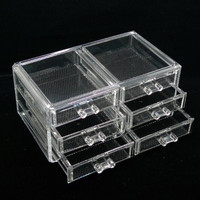 Luxury Acrylic Cosmetic Organizer Makeup Box 6 Drawers 1005-5***