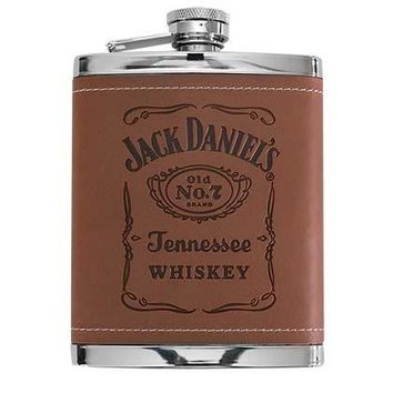 Jack Daniels Brown Leather Flask
