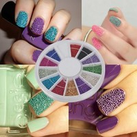$2.50 12 Color 3D Steel Ball Caviar Beads Manicure Nail Art Glitter Decoration - BornPrettyStore.com